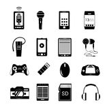 Gadget icons black Royalty Free Stock Photos