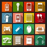 Gadget Icons Flat Stock Image