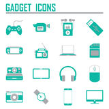 Gadget icons, mono vector symbols Stock Images