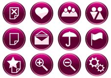 Gadget icons set. Stock Image