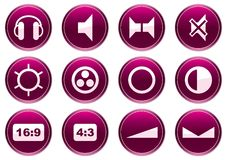 Gadget icons set. Royalty Free Stock Photos