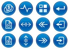 Gadget icons set. Royalty Free Stock Photo