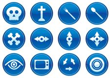 Gadget icons set. White - dark blue palette. Vector illustration Royalty Free Stock Image