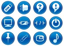 Gadget icons set. Royalty Free Stock Photography