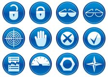 Gadget icons set. Stock Photos