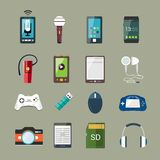 Gadget icons set Stock Photo