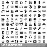 100 gadget icons set, simple style. 100 gadget icons set in simple style for any design vector illustration Royalty Free Illustration