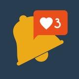 Gadget like notification icon Royalty Free Stock Photo