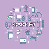 Gadget minimal outline icons Stock Image