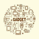 Gadget minimal thin line icons set Royalty Free Stock Photo