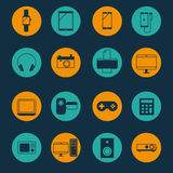 Gadget and mobile device icon set vector illustration Royalty Free Stock Photos