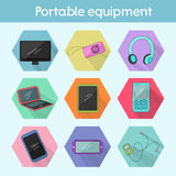 Gadget modern flat icon color vector illustration Stock Images