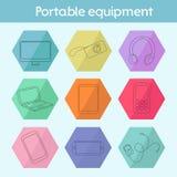 Gadget modern flat icon vector illustration Stock Image