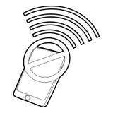 Gadget no wi-fi icon, outline style Royalty Free Stock Photos