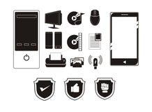 Gadget simple icon set Royalty Free Stock Photos