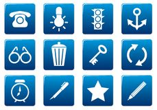 Gadget square icons set. Stock Images