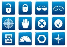 Gadget square icons set. Stock Photo