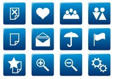 Gadget square icons set. Royalty Free Stock Photo
