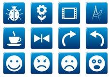 Gadget square icons set. Royalty Free Stock Photos