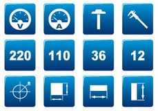 Gadget square icons set. Royalty Free Stock Photos