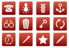 Gadget square icons set. Stock Photos