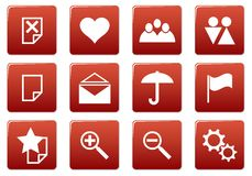 Gadget square icons set. Stock Image