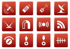 Gadget square icons set. Stock Photos