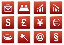 Gadget square icons set. Royalty Free Stock Image