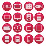 Gadget technology icon set gradient style Royalty Free Stock Photo