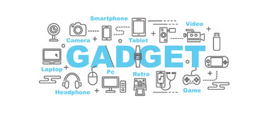 Gadget vector banner Stock Photography