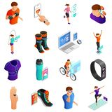 Gadgets for Active People Isometric Vector Set vector illustration