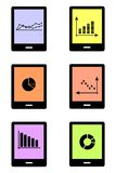 Gadgets and charts black Stock Photography