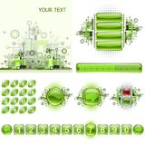 Gadgets de GUI et positionnement d'éléments de conception de Web. Photographie stock libre de droits