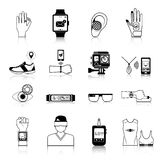 Gadgets and devices icons set. For virtual communication  vector illustration Stock Photography
