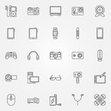 Gadgets and devices icons Stock Photo