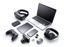 Gadgets en toebehoren stock afbeeldingen