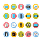 Gadgets and entertainment icons set. Royalty Free Stock Images