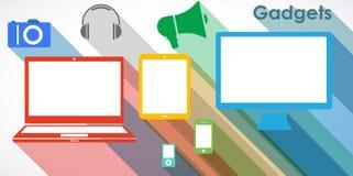 Gadgets - geplaatste pictogrammen Stock Afbeeldingen