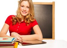 Gadgets and homework Royalty Free Stock Photography