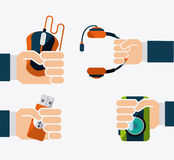 Gadgets icon Stock Photography