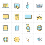 Gadgets icon set Royalty Free Stock Image