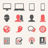 Gadgets. Icon set Royalty Free Stock Image