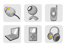 Gadgets icons Royalty Free Stock Photos