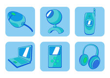 Gadgets icons Royalty Free Stock Photography