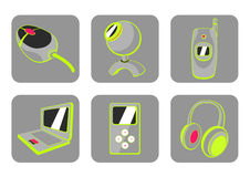 Gadgets icons Stock Photo