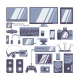 Gadgets icons set. Royalty Free Stock Images