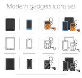 Gadgets icons set Royalty Free Stock Photography