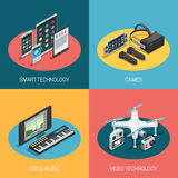 Gadgets Isometric Design Royalty Free Stock Image