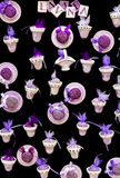Gadgets made with lavender. Many Gadgets made with lavender royalty free stock photography