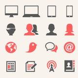 Gadgets. Pictogramreeks royalty-vrije stock afbeelding